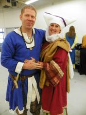 "The Geoffrey and I. My propoloma, rose delmatikion, and mint kamision with my gold loros. My ""casual"" garb."
