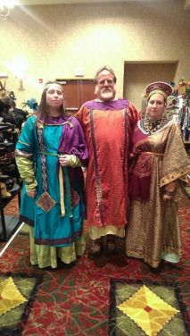 The Byzanteam at Figments and Filaments in Kansas City. I'm in my gold beaded delmatikion.
