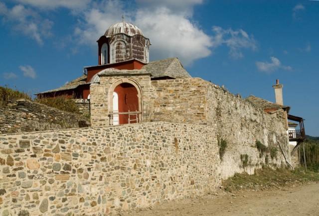 Agios Vasilios cell near Iviron monastery, Mount Athos, Halkidiki, Greece