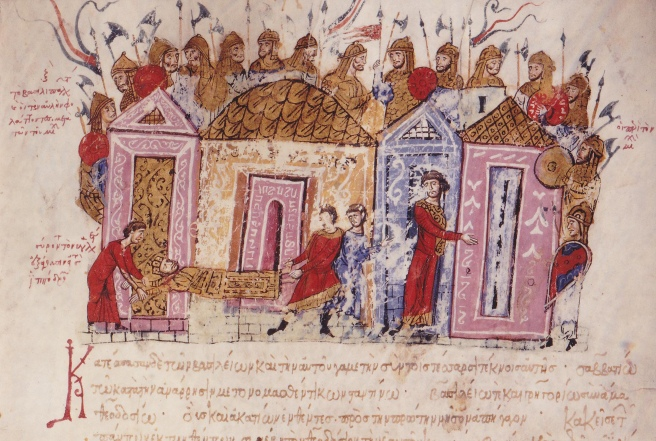 The Varangian Guard (Miniature from the Madrid Skylitzes), 11th-12th century. Artist: Anonymous